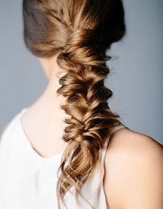 Save this hair tutorial to give yourself a messy fishtail.