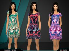 The Sims Resource: Ella Dress Set of 3 by SIms4Krampus • Sims 4 Downloads