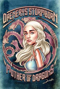 Daenerys Targaryen – Game Of Thrones By Renato Cunha.
