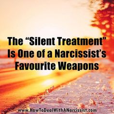I use the silent treatment a lot 😶 First reason is I'll blow up if I talk to you. And the second reason pinpoints that I am in fact a narcissist. Narcissistic People, Narcissistic Mother, Narcissistic Sociopath, Narcissistic Behavior, Abusive Relationship, Toxic Relationships, Relationship Coach, The Silent Treatment, Frases