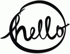 Silhouette Online Store - View Design #60972: hand-inked 'hello' circle frame