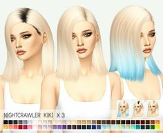 Sims 4 hairs miss paraply: nightcrawler`s kiki hair etexture Sims 4 Game Mods, Sims 4 Mods, Sims 4 Cc Skin, Sims Cc, Sims 4 Anime, The Sims 4 Packs, The Sims 4 Cabelos, Pelo Sims, Sims 4 Gameplay