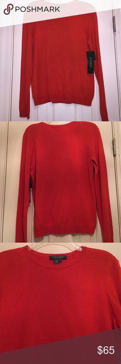 Lauren by Ralph Lauren Cashmere Sweater New with tags! Beautiful Fall Color. 85% silk and 15% cashmere. Lauren Ralph Lauren Sweaters Crew & Scoop Necks