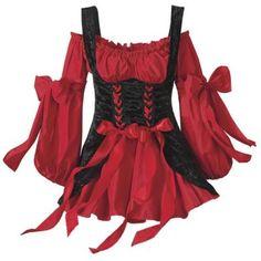 Renaissance Bar Maid corset and chemise