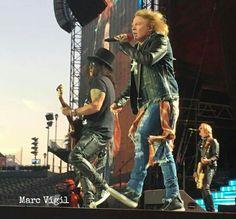 Axl Rose, Slash & Duff McKagan of Guns N' Roses, august 2016 #axlrose…