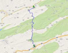 Maps of the best Blue Ridge Mountain road routes for sight seeing!  Yea - take the MOTORCYCLE!