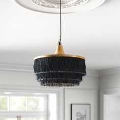 Kelly Clarkson Home Richland 1 - Light Unique / Statement Tiered Pendant Kelly Clarkson, Drum Chandelier, Pendant Lighting, Light Pendant, Crystal Pendant, Pool Table Lighting, Overhead Lighting, Lighting Ideas, Ceiling Fan With Remote