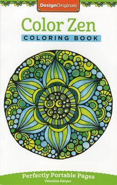 Design Originals Color Zen Perfectly Portable Adult Coloring and Activity Book by Valentina Harper