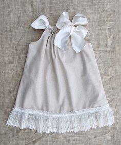Take a look at this Earth Blend Ribbon Swing Dress - Infant, Toddler & Girls on zulily today!