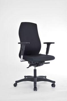 Ergonomischer Drehstuhl HEVIS Black Edition I