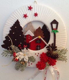 Sewing is my hobby - needlework, patterns, Sewing is my hobby - needlework, patterns. Christmas Makes, Christmas Art, Christmas Projects, Simple Christmas, Beautiful Christmas, Christmas Christmas, Easy Christmas Decorations, Xmas Wreaths, Felt Christmas Ornaments