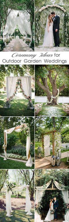 gorgeous outdoor garden wedding ceremony ideas