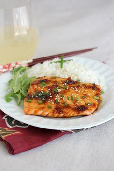 Pineapple Teriyaki Glazed Salmon