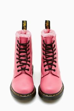 Martens Serena 8 Eye Boot - Pink in Shoes at Nasty Gal Doc Martens Outfit, Doc Martens Rose, Dr Martens Boots, White Doc Martens, Botas Dr Martin, Doc Martins, Cute Shoes, Me Too Shoes, Fashion Shoes