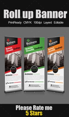 Roll Up Business Banners Template #design Download: http://graphicriver.net/item/roll-up-business-banners/9213751?ref=ksioks