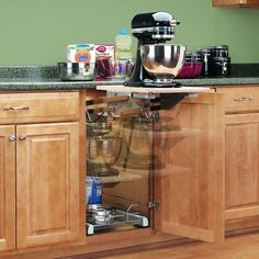 "Shop Rev-A-Shelf RAS-ML-HD RAS-ML Series 12"" Base Cabinet Heavy Duty Mixer Lift Arms - Chrome - Overstock - 17136531"