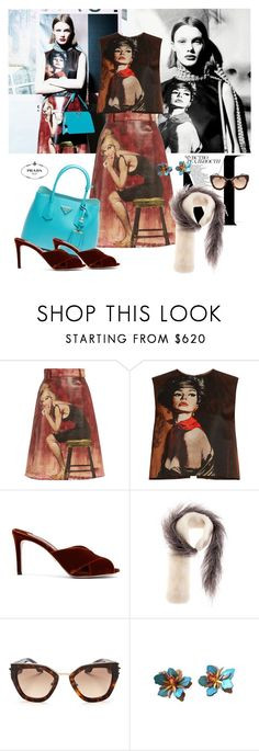 """Prada Streets"" by jacque-reid ❤ liked on Polyvore featuring Prada"