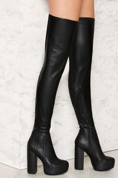 Jeffrey Campbell Bedelia Caviar Thigh-High Boot   Shop Shoes at Nasty Gal!