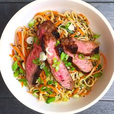 A heartier steak salad with an Asian twist.  Get the recipe: Soba Noodle Salad with Grilled Flank Steak   - Delish.com