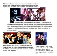 BTS ❤️ first win ❤️ bless their humble hearts