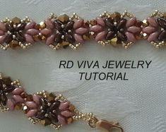 Tutorial Herringbone Weave Bracelet by Vivatutorial on Etsy