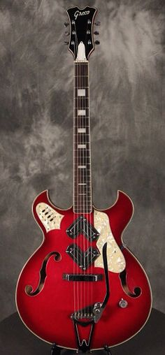 GRECO Shrike 950 w/boomerang pickups 1960s Red | Reverb