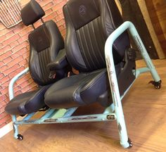 Both seats recline, but the driver has adjustable height and rake lever.