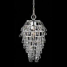 "@Overstock - ""Namika"" Clear Crystal 1-light Chandelierhttp://www.overstock.com/Home-Garden/Namika-1-light-Clear-Crystal-Chandelier/6384781/product.html?CID=214117 $90.99"