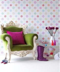 Be eccentric this season by using lots of colour! #interiordesign #trend #design