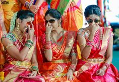 3 Indian Brides Having some fun in Wedding