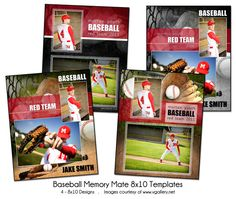 BASEBALL PACK  Memory Mate Sports Photo by KatieAnnDesigns on Etsy, $25.00