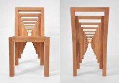 sedie di design in legno inception
