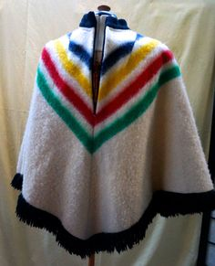 Vintage PONCHO  authentic Hudson Bay Company by blingblingfling-https://www.etsy.com/listing/220178210/vintage-poncho-authentic-hudson-bay