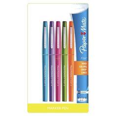 PaperMate Flair 5ct Asst. Felt Tip Marker Pen. Target.