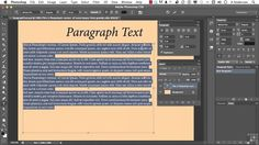 19 Working With Photoshop Type | 01 Formatting Paragraph Text