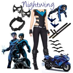 """""""Nightwing"""" by aquamaureen13 on Polyvore"""
