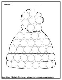 Set of Winter Dot Marker free pages for kids - happy new year winter dot marker free printables preschool coloring pages ,do a dot marker activity - Winter Crafts For Toddlers, Craft Activities For Kids, Toddler Crafts, Abc Coloring Pages, Preschool Coloring Pages, New Year Printables, Free Printables, Early Childhood Activities, Dots Free