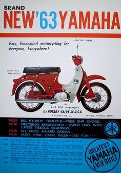 1963 Yamaha – the marquis Honda Cub, Yamaha Scooter, Yamaha Motorcycles, Small Motorcycles, Motorcycle Manufacturers, Japanese Motorcycle, Motor Scooters, 50cc, Mini Bike