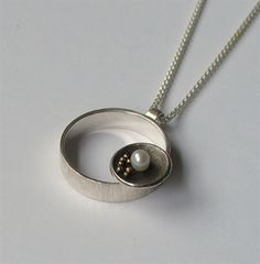 Pebbles Designer Jewellery - St Ives, Cornwall. Pearl pendant by Cathy Timbrell