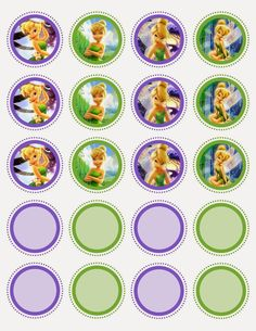 Tinkerbell Free Printable Toppers, Labels or Stickers.