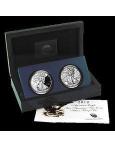 """The 2012 American Eagle San Francisco Two-Coin Silver Proof set to be offered for a four-week period beginning June 7 will include Proof and Reverse Proof coins struck at the San Francisco Mint and bearing the facility's """"S"""" Mint mark. Proof Coins, Wealth, Period, San Francisco, Stamps, Eagle, June, River, American"""