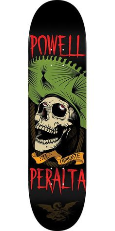Powell Peralta Te Chingaste Skateboard Deck - Black Green - 8.25in x 31.95in d838a20c12c