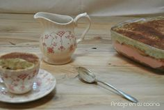 Tiramisú de rosas y té matcha - Matcha tea & roses tiramisu