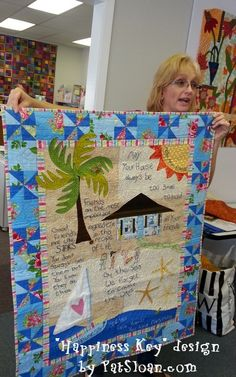 LeeAnn Happiness Key quilt..  click to see more quilts from my patterns and designs!