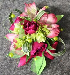 corsages purple - Google Search