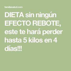 DIETA sin ningún EFECTO REBOTE, este te hará perder hasta 5 kilos en 4 días!!! Three Day Diet, Diabetes, Fitness Tips, Health Fitness, Menu Dieta, Diet Tips, Body Care, Health Tips, Smoothies