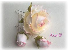 Цветы из фоамирана мастер класс. Роза на шпильке. - https://www.youtube.com/watch?v=BCt1cQfsbAM
