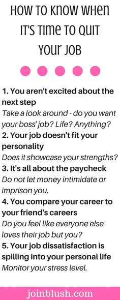 If you're having serious thoughts about quitting your job and finding a new career, this is the checklist for you.