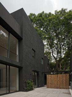 bois et noir.    Casa Cerrada Reforma 108 by DCPP Arquitectos
