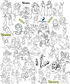 shrekxmascoloringpagesjpg 750709  Kids Colouring Pages